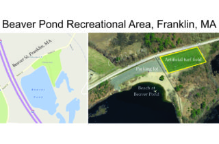 Beaver Pond Recreational Area Franklin MA location