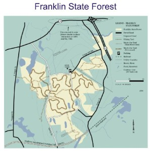 Franklin State Forest Franklin MA map