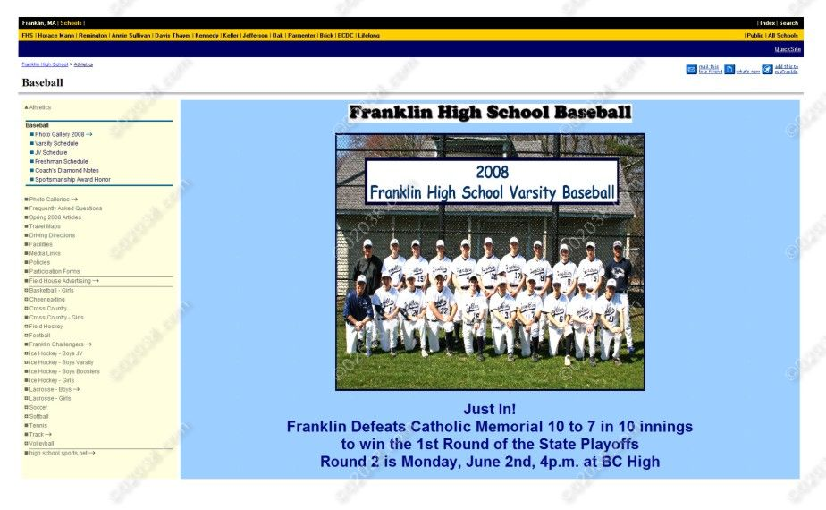 franklin-ma-high-school-baseball