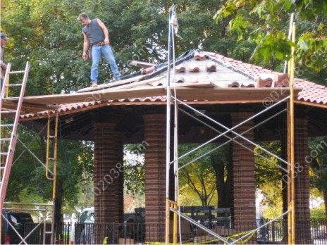 Franklin MA Town Common gazebo repairs 2