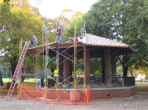 Franklin MA Town Common gazebo repairs 3