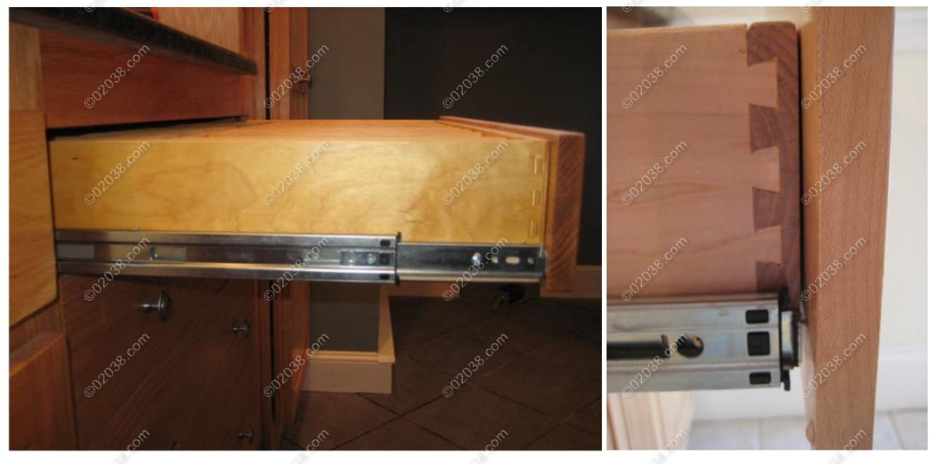 Kitchen cabinet drawer slide types - Metal Drawers For Kitchen Cabinets How To Spot Kitchen Cabinet Quality Franklin Ma