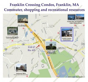 Franklin Crossing Condos Franklin MA - commute - shopping