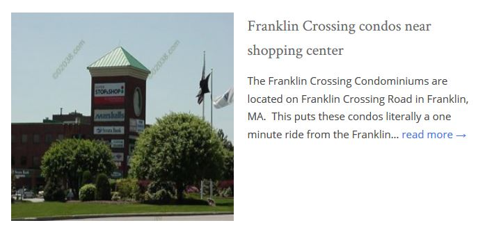 Franklin Crossing Condos Franklin, MA