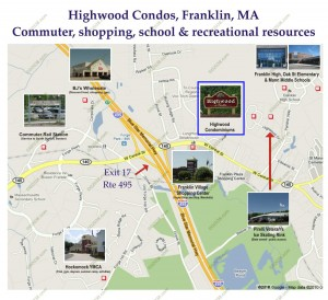 Highwood Condos Franklin MA - location