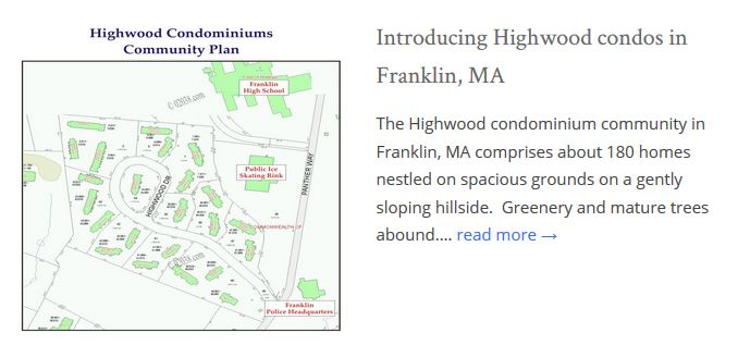 Highwood Condo Franklin MA