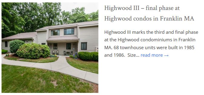 Highwood Condos Franklin MA