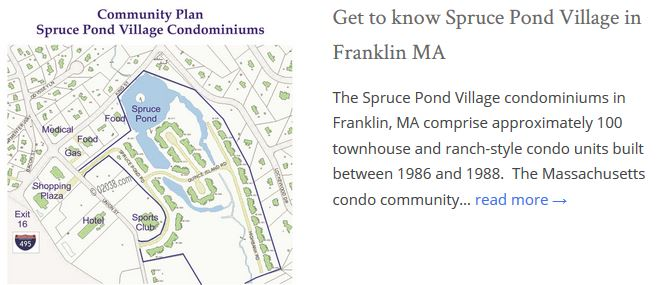Spruce Pond Village Condos Franklin MA