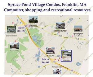 Spruce Pond Village Franklin MA - location