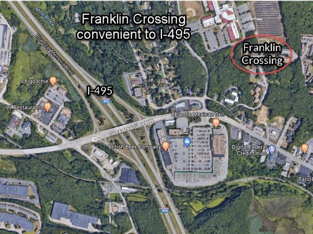 Franklin Crossing Condos Franklin MA location
