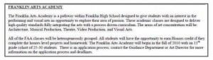 franklin ma high school FAA described