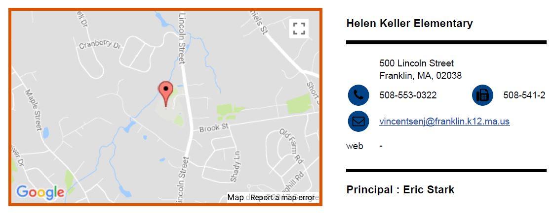 Helen Keller Elementary Franklin MA