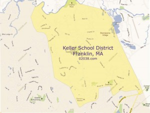 Keller School district map Franklin MA