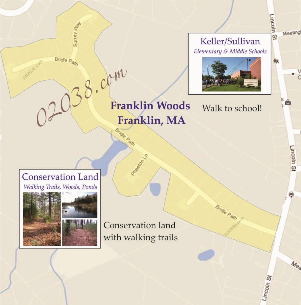 franklin woods bridle path franklin ma map