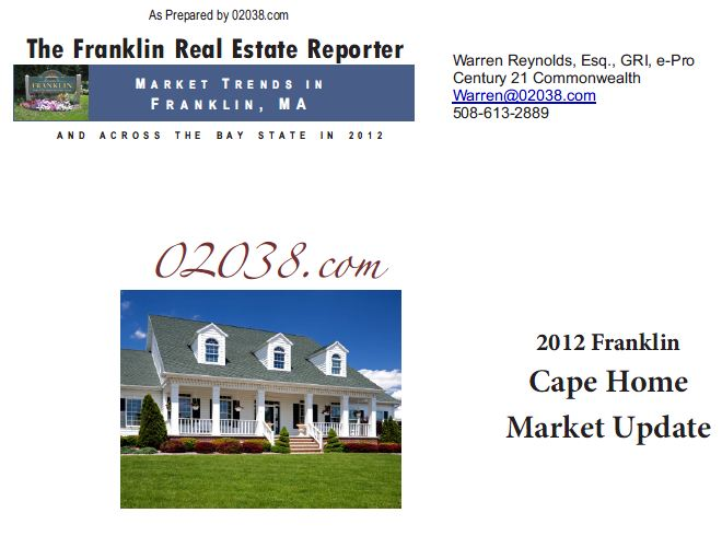 Franklin ma real estate 2012 recap cape homes