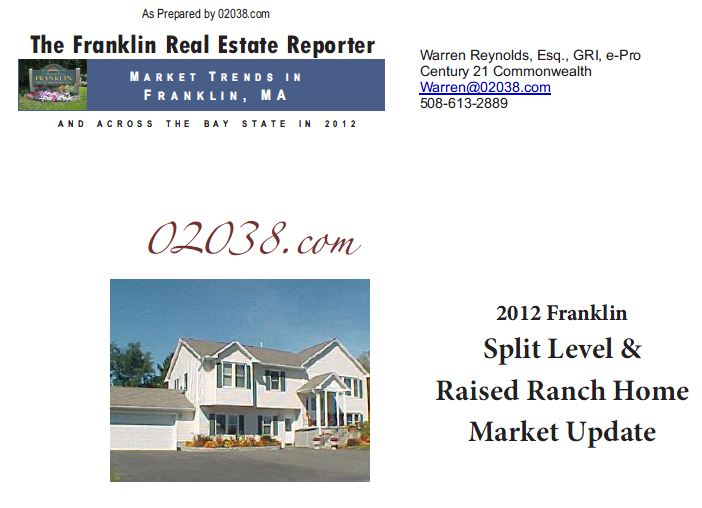 Franklin ma real estate 2012 recap split level homes