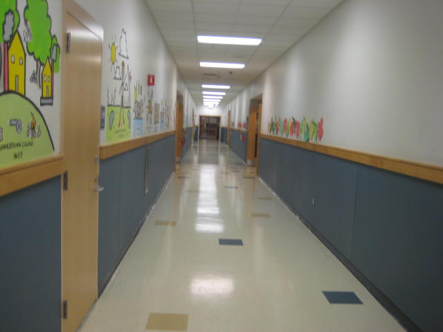 Oak Street Elementary School Franklin MA - hallways