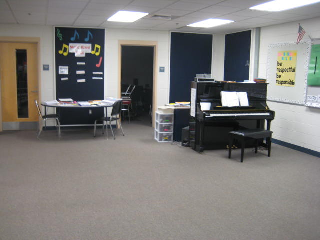 Oak Street Elementary School Franklin MA - music room