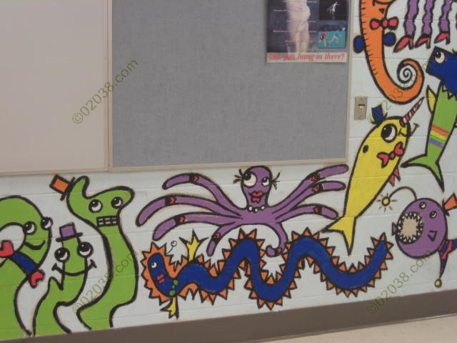 Bren Bataclan mural Keller Elementary Franklin MA