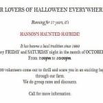 Halloween Hanson farm