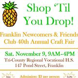 Franklin MA Newcomers Craft Fair 2013