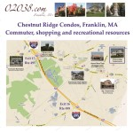 Chestnut Ridge Condos Franklin MA - broader map