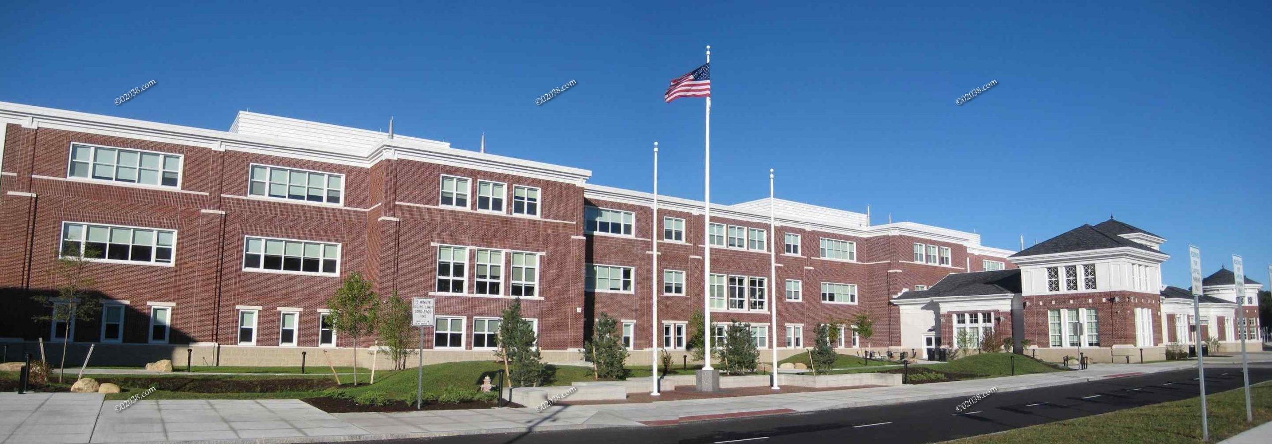Exterior Franklin High School Franklin MA