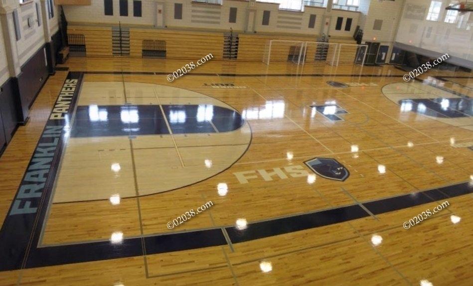 high school gym. Gym Franklin High School MA
