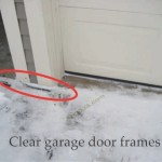 clear snow from garage