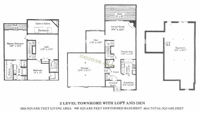 spruce pond village franklin ma - floor plan