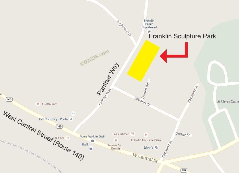 Franklin MA Sculpture Park - location