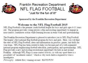 Franklin Flag Football Guide 2015
