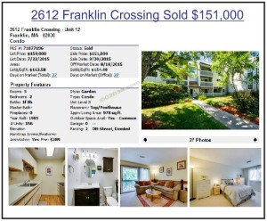 Franklin Crossing condos Franklin MA high prices