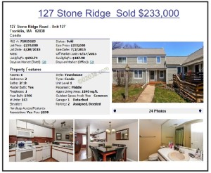 Stone Ridge condos Franklin MA 2015 low