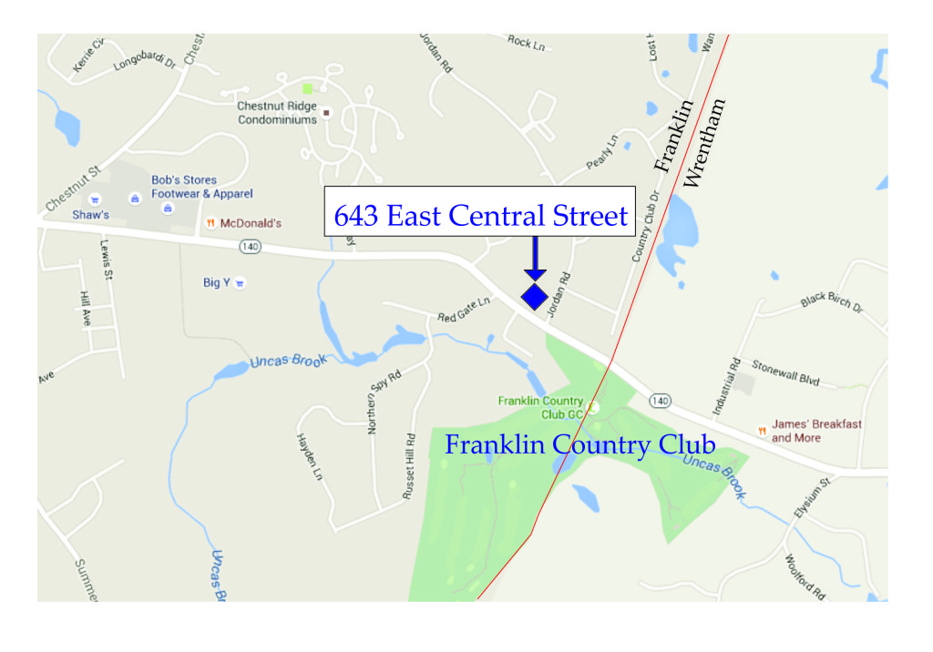 643 East Central St, Franklin, MA - map