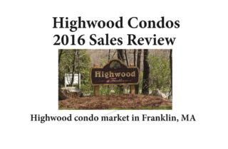Highwood Condos Franklin MA - sale report 2016