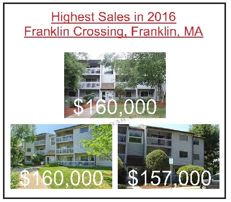 Franklin Crossing condos Franklin MA highest sales 2016