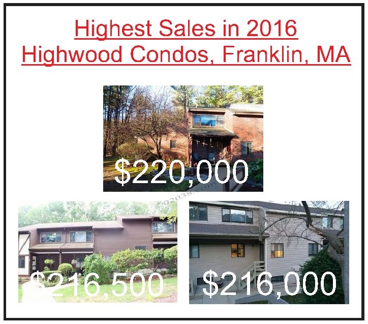 Higgwood condos Franklin MA highest sales 2016