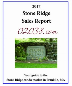 Stone Ridge Condos Franklin MA - sales report 2017 cover