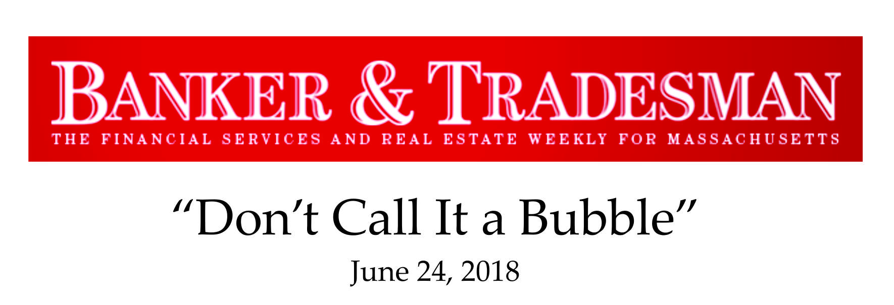 Boston Bubble real estate