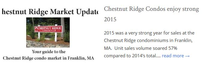 Chestnut Ridge Condos Franklin MA