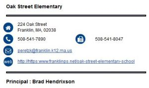 Oak Street Elementary School Franklin School