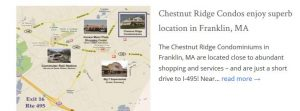Chestnut Ridge Condos Franklin MA location