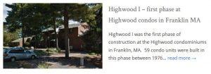 Highwood condos Franklin MA