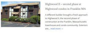 Highwood Condo Franklin MA