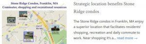 Stone Ridge Condos Franklin MA location