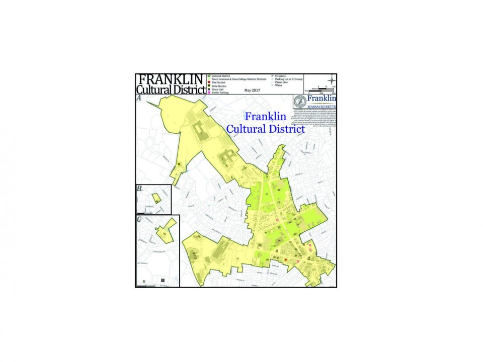 Franklin Cultural District Franklin MA map