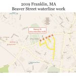Franklin MA road work 2019