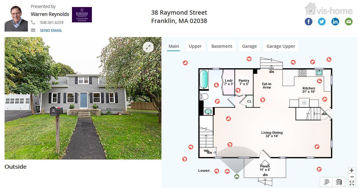 38 Raymond St Franklin MA floor plan