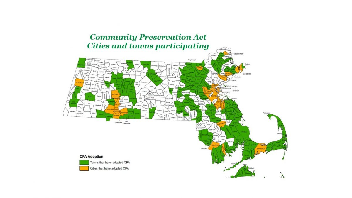 Community Preservation Act - CPA - Massachusetts map